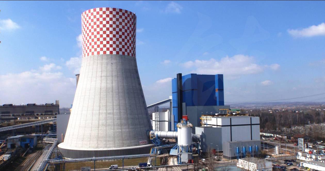 波兰世界上第一台460MW超临界CFB锅炉的烟塔合一装置